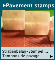 Pavement stamps