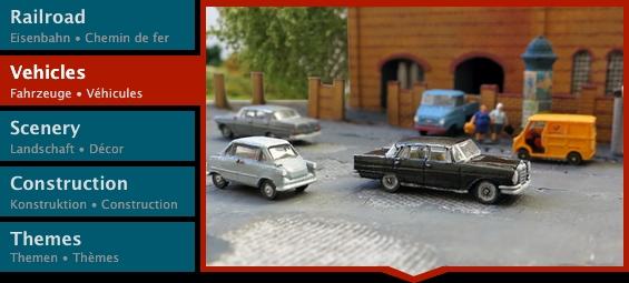 Vehicles menu
