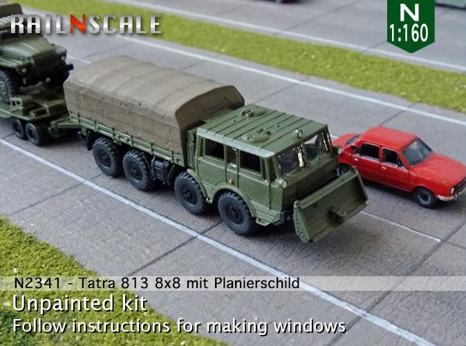 RAILNSCALE N2341 NEU Tatra 813 8x8 mit Planierschild Spur N